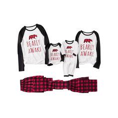 Bear Carta Família Combinando Natal Pijama