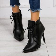 Donna PU Tacco a spillo Stiletto con Con risvolto scarpe