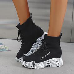 Женский ткань на открытом воздухе Спортивное с Зашнуровать обувь