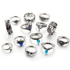 экзотичный Boho сплав Кольца Пляжные украшения (набор из 13)