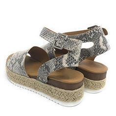Dla kobiet PU Obcas Koturnowy Sandały Koturny Otwarty Nosek Buta Obcasy Z Nadruk Zwierzęcy obuwie