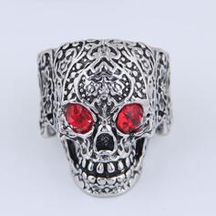 Schedel Halloween Legering met Steentjes Ringen