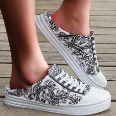 Квартиры Круглый носок Слайд и мулы Мокасины эспадрильи с Цветок Печать обувь