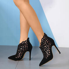 Women's PU Stiletto Heel Pointed Toe With Zipper Hollow-out shoes