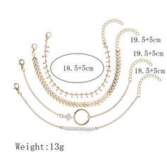 Único Exquisite Elegante Liga Conjuntos de jóias Pulseiras Jóias De Praia (Conjunto de 4 pares)