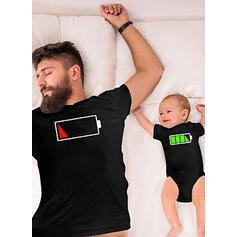 Apa és én Rajzfilm összeillő T-shirt
