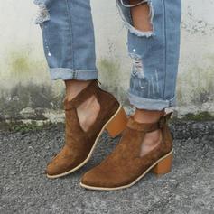 De mujer Ante Tacón ancho Sandalias Salón con Hebilla zapatos