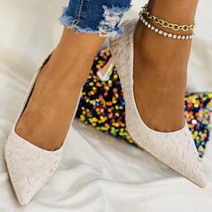 Bayanlar Kumaş Topuklu ayakkabı topuk Ile Katı Renk ayakkabı