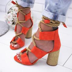 Pentru Femei PU Toc Stiletto Sandale Încălţăminte cu Toc Înalt cu Lace-up pantofi