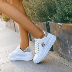 Women's PU With Imitation Pearl Lace-up shoes