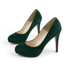 Női Szarvasbőr Tűsarok Magassarkú Emelvény cipő