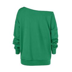 Sequins One Shoulder Long Sleeves Christmas Sweatshirt