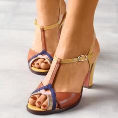 Donna PU Senza tacco Sandalo scarpe