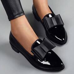 Női PU Chunky sarok Lakások -Val Csokornyakkendő Szolid szín cipő