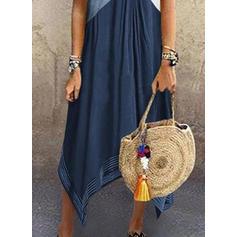 Wyszczuplająca Krótkie rękawy Koktajlowa Casual Midi Sukienki