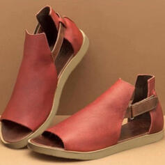 Women's PU Flat Heel Sandals With Hollow-out shoes
