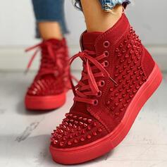 Frauen Leinwand mit Zuschnüren Schuhe