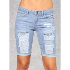Карманы Разорванный Тощий джинсы Джинсы