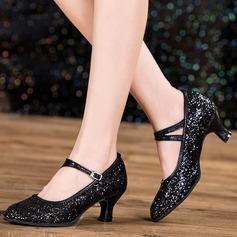 Mulheres sapatos de personagem Espumante Glitter Latino
