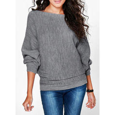 Solid Long Sleeves Casual Blouses