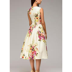 Sem mangas Largo Tamanho do joelho Casuais/Elegante Vestidos