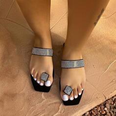 Pentru Femei EVA Fară Toc Sandale Balerini Puţin decupat în faţă cu Ştrasuri pantofi