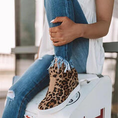 Kvinner Semsket Kile Hæl Platform Kiler med Glidelås sko