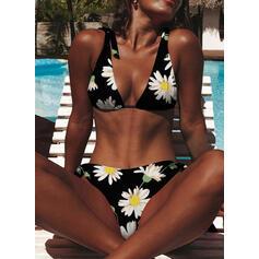Floral Strap Vintage Fresh Bikinis Swimsuits