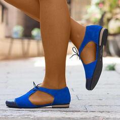 Женский PU Плоский каблук Квартиры с Выдолбить обувь