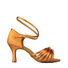 Pentru Femei Latin Tocuri Sandale Satin Piele Reală Banchet