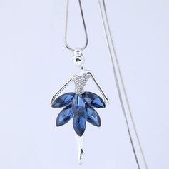 fasjonable Legering Rhinestones Glass Damene ' Fashion Kjede