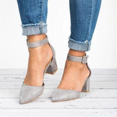 De mujer PU Tacón stilettos Salón Cerrados con Hebilla zapatos