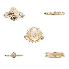 Unik Utsökt Snygg Legering Smycken Sets Ringar (Sada 5 párov)