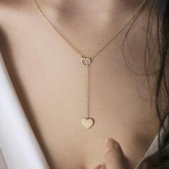 Simple Corazón día de San Valentín Aleación con Corazón De mujer Collares