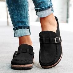 Mulheres Camurça Sem salto Sem salto Slide & Mules Mulas com Fivela sapatos