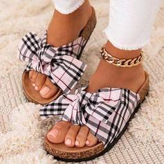 Bowknot Цвет соединения В полоску обувь