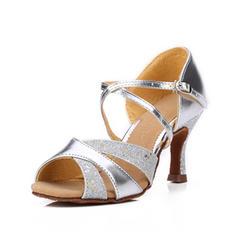 Kvinder Latin sandaler Kunstlæder Mousserende Glitter Latin