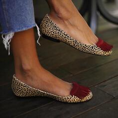 婦人向け PU フラットヒール フラッツ とともに タッセル 靴