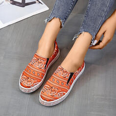 Frauen Satin Flascher Absatz Flache Schuhe mit Spleißfarbe Schuhe