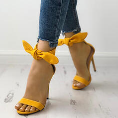 Mulheres Camurça Salto agulha Sandálias Peep toe sapatos