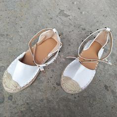 Pentru Femei PU călcâi plat Balerini Închis la vârf cu Cataramă pantofi