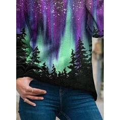Print Forest Long Sleeves Hoodie