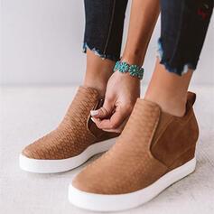 De mujer Cuero Tipo de tacón Cuñas con Banda elástica zapatos