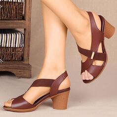 Femmes PU Talon bottier Sandales Escarpins avec Élastique Entrecroisement chaussures