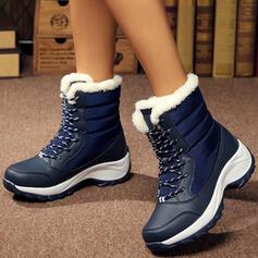 Kvinnor Duk Kilklack Stövlar med Bandage skor