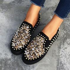 Mulheres PU com Rivet sapatos