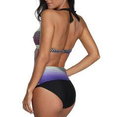 Low Waist Patchwork Halter Eye-catching Bikinis Swimsuits