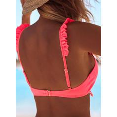 Jednolity kolor Trójkątny Niski stan W prążki Seksowny Atrakcyjny Bikini Stroje kąpielowe
