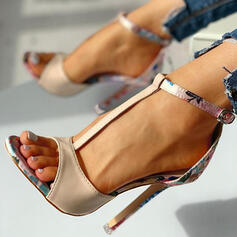 Dla kobiet Skóra ekologiczna Obcas Stiletto Sandały Czólenka Otwarty Nosek Buta Obcasy Z Klamra obuwie