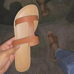 Dla kobiet Tkanina Płaski Obcas Sandały Plaskie Otwarty Nosek Buta Kapcie obuwie